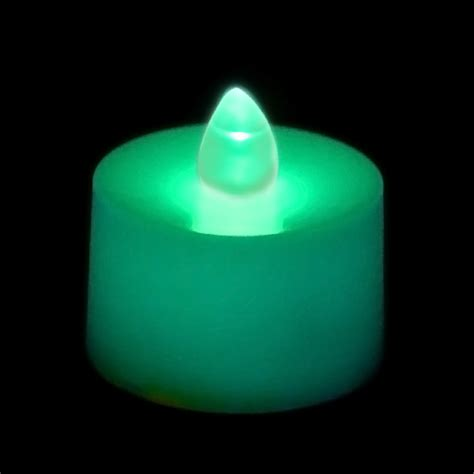 Flickering Battery Operated Tea Light Candle Teal