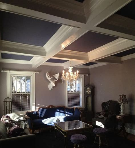 coffered ceiling diy for the home
