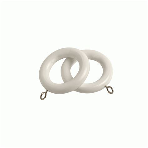 white drapery rings county white 28mm curtain rings
