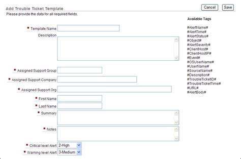 Creating Oracle Audit Vault Policies And Alerts Help Desk Trouble Ticket Template