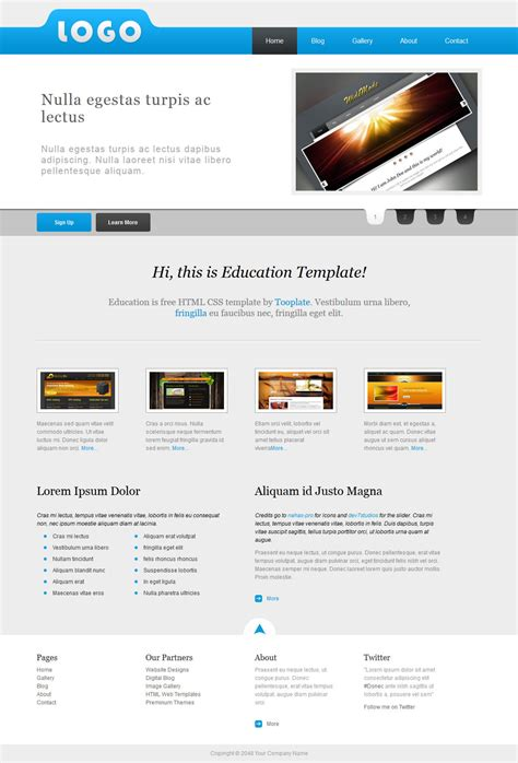 education free html css templates