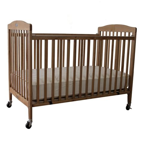 La Baby Full Size Wood Folding Crib Natural Cribs At La Baby Portable Crib