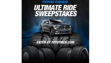 Www Toyotires Com Sweepstakes - toyo tires launches the ultimate ride sweepstakes