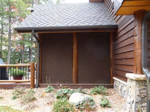 Print Roman Shades - screen porch shades protect rustic exterior other metro by weather queen shades llc