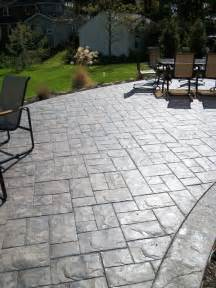 Slate Patio Designs Ashler Slate Sted Concrete Patio