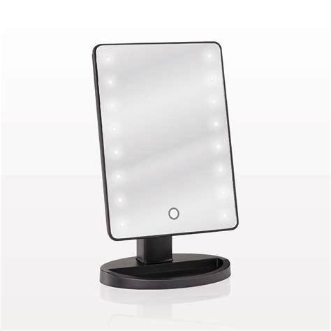 tabletop makeup mirror with lights qosmedix led lighted top cosmetic mirror