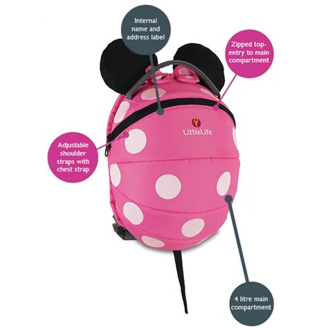 Minnie Mouse Toddler Backpack disney pink minnie mouse toddler backpack