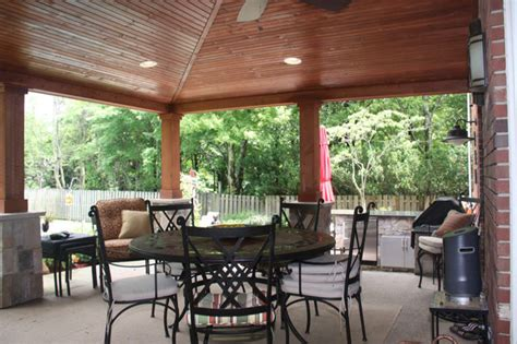 Outdoor Patio Ceiling by Vaulted Ceiling Patio Ideas