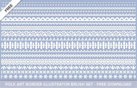 pattern border illustrator free illustrator folk art border pattern brushes mels