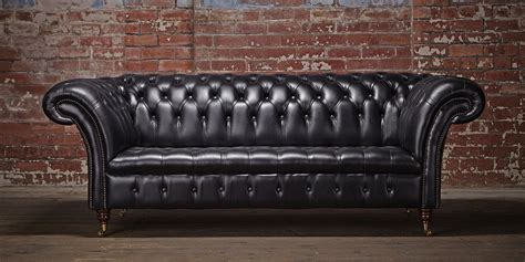 Chesterfield Sofa Company Large Chesterfield Sofa Paxton Black Leather Chesterfield Company Thesofa