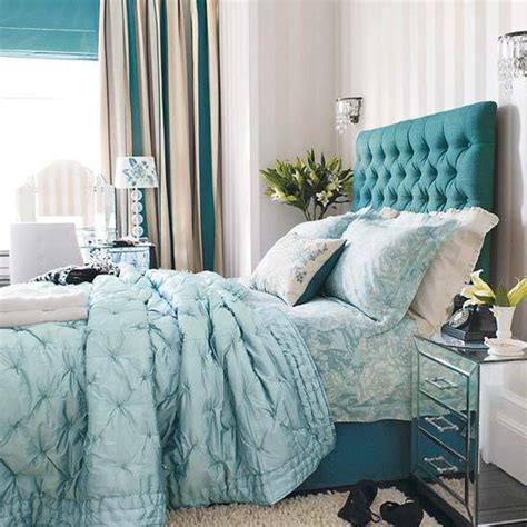 teal blue bedroom decor 25 upholstered bed headboards revitalizing modern bedroom
