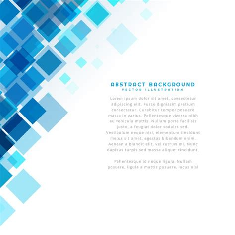 blue template blue squares background template vector free