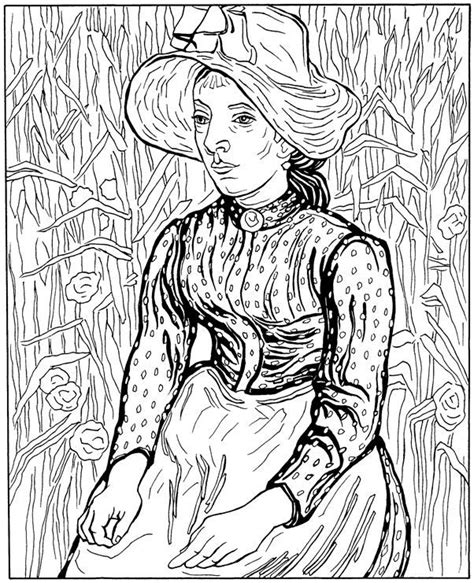 Free Coloring Pages Of Vincent Van Gogh Gogh Coloring Page