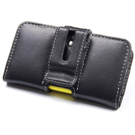 Cesing Hp Nokia Asha 210 pdair horizontal leather pouch nokia asha 210 black