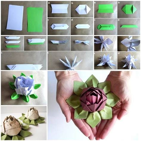 How To Make A Paper Lotus Step By Step - how to make origami lotus flower pictures photos and