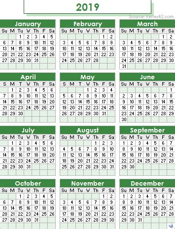kalender 2019 kuda (1) – download 2019 calendar printable