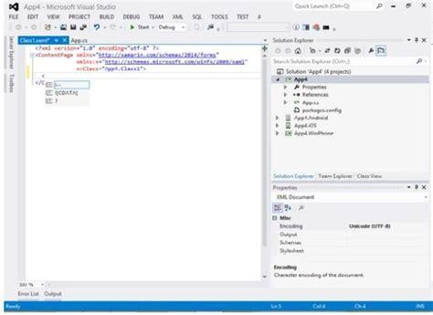 xamarin tutorial in hyderabad configure xamarin forms xaml intellisense in visual studio