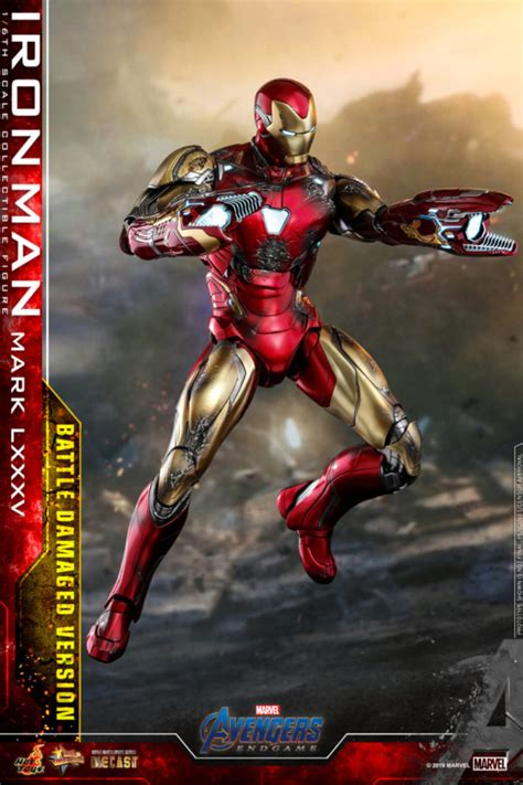 hot toys avengers endgame battle damaged iron man
