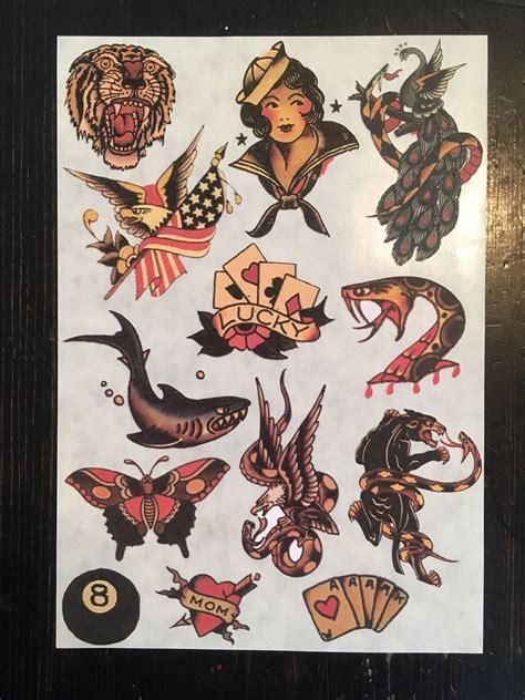 sailor jerry shark tattoo sailor jerry flash sticker set 2 with shark