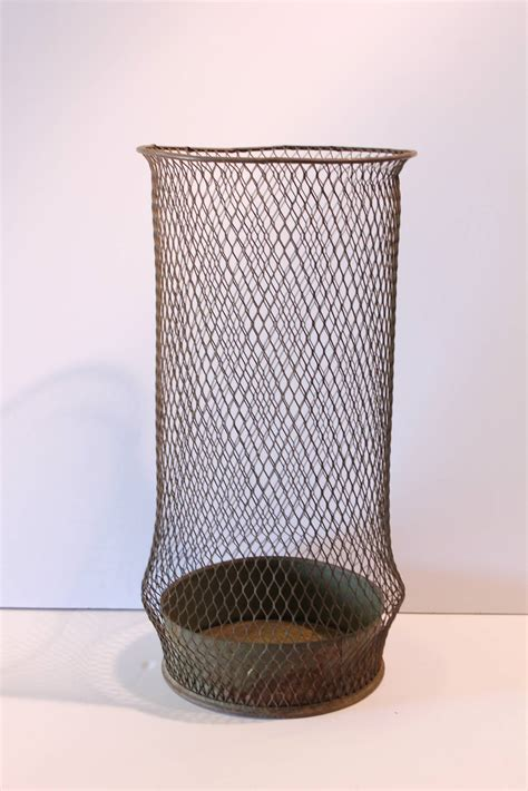 decorative waste baskets early 20thy century tall american industrial waste basket