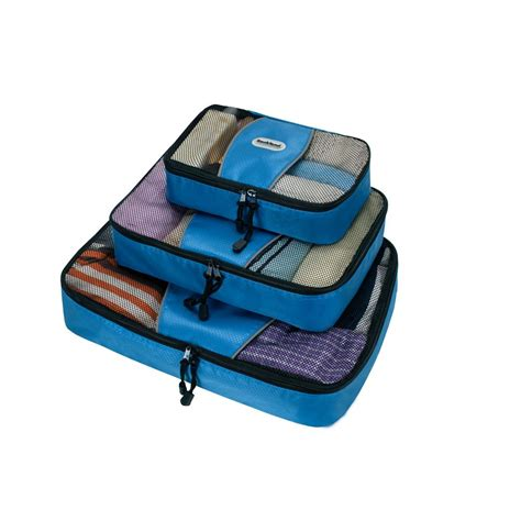 Set Of 3 Packing Cubes rockland packing cubes set of 3 u01 blue the home depot