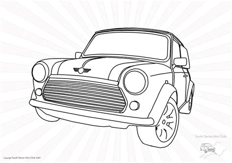 free coloring pages of classic mini cooper