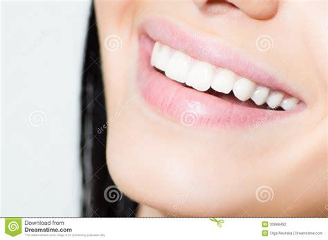 Lovely Sweet White closeup on lovely smily stock