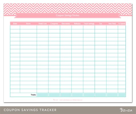 best photos of money savings tracker printable coupon
