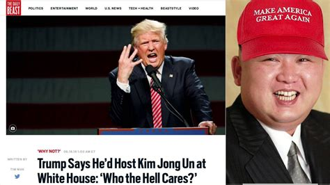 kim jong un house trump vows to eat hamburgers with kim jong un in the white house youtube