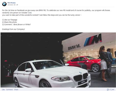 Facebook Giveaway Scams - bmw giveaway 2014 on facebook autos weblog