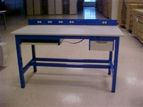 bench tech tech bench tech table work stationpower stripe round