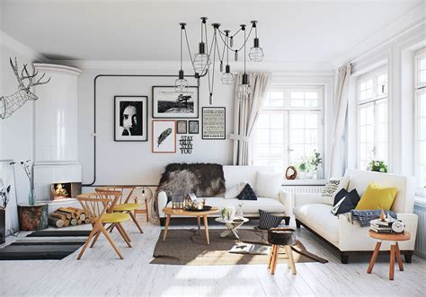 Skandinavisches Wohnzimmer scandinavian living room interior design ideas