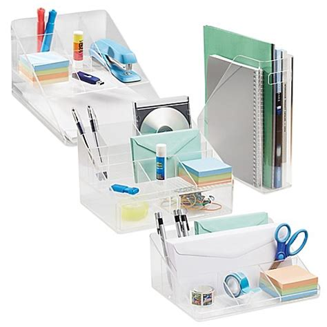 Clear Desk Organizer Interdesign 174 Linus Clear Desk Organizer Collection Bed Bath Beyond