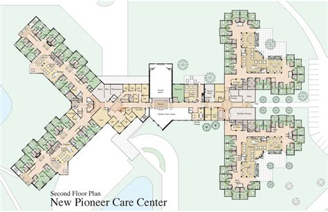 Nursing Home Floor Plan by Second Floor Plan Pioneercare Pioneercare