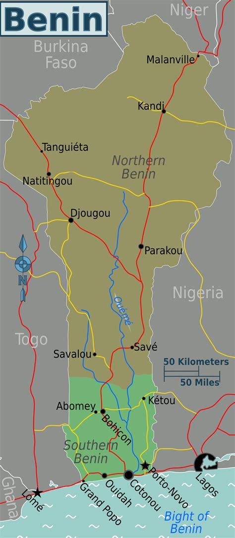 benin on the map map of benin regions worldofmaps net maps and