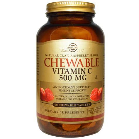 Vitamin Nat C Solgar Chewable Vitamin C Cran Raspberry Flavor