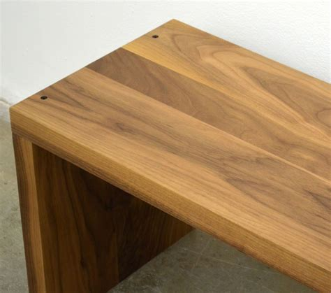 modern wood benches custom made modern solid walnut wood bench by fabitecture custommade com