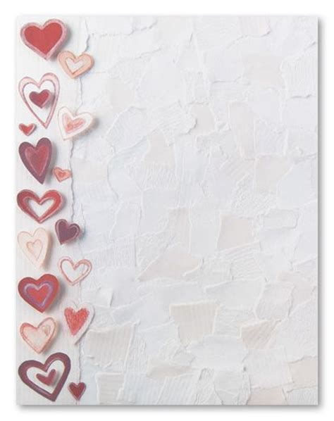 printable stationary with hearts 105 best images about valentines stationery on pinterest