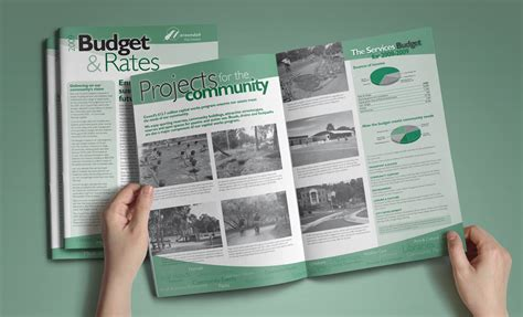 leaflet design rate burst creative 187 brochure design maroondah city council