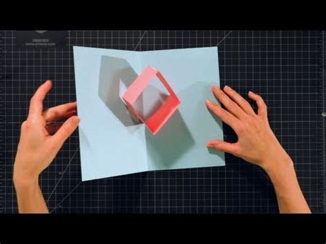 How To Make A Up Box Out Of Paper - how to make a box pop up card pop up cards