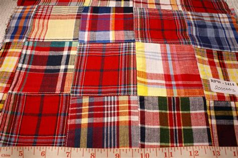 Patchwork Plaid Fabric - patchwork madras fabric made in india cotton patchwork