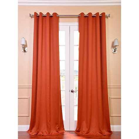 hunter orange curtains exclusive fabrics furnishings semi opaque blaze orange