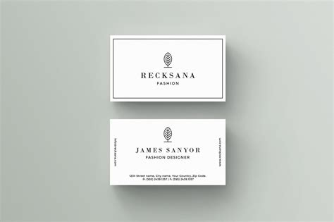 Business Card Template by Recksana Business Card Template Business Card Templates