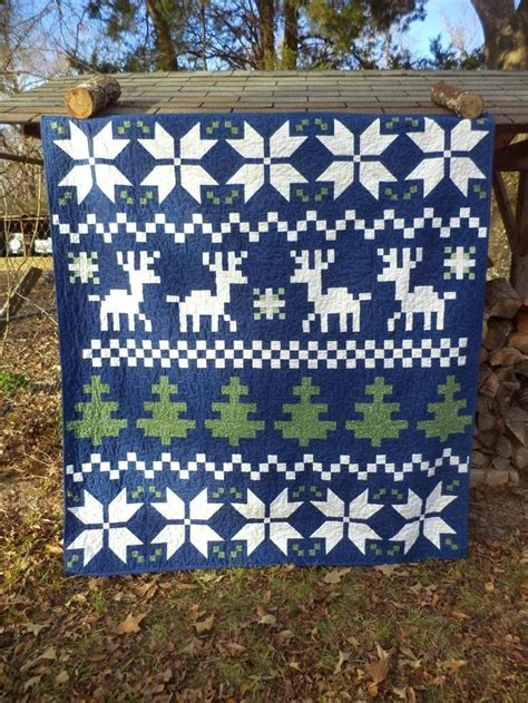 fair isle table runner 1000 ideas about winter quilts on table