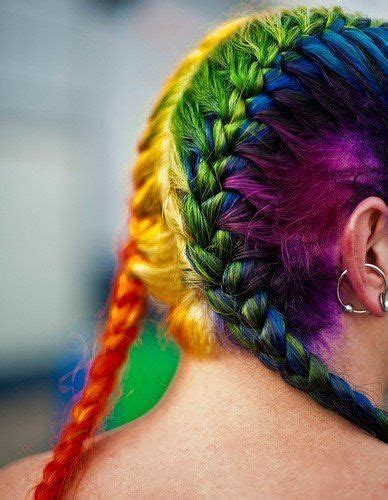 colorful braiding hair rainbow hair color strayhair
