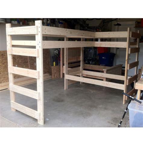 l shaped loft bed any size l shaped loft bunk bed 1000 lbs wt capacity