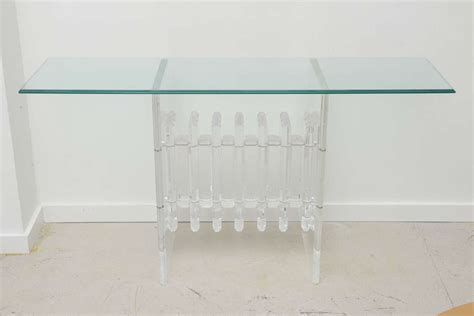 clear acrylic console clear console lucite console treatment