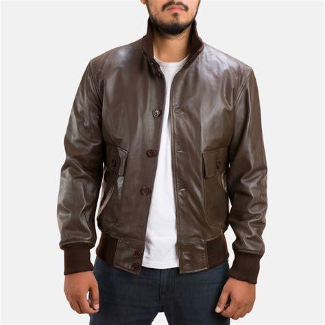 Leather Bomber Jacket mens columbus brown leather bomber jacket