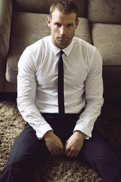 Kemeja Pria Handsome lucas kerr by michael brager white shirt black tie adentrostyle the