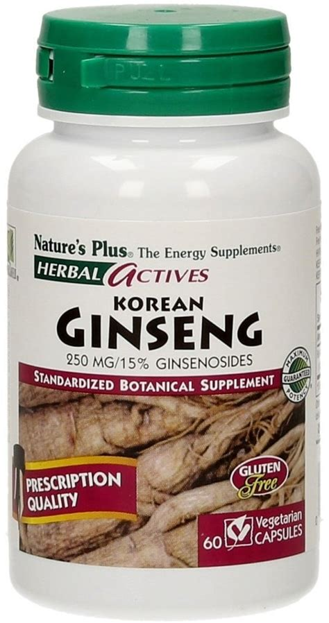 Kapsul Ginseng Korea korean ginseng 250 60 veg kapseln herbal actives